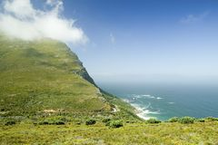 Cloud comes in at Cape Point, Cape of Good Hope, outside Cape Town, South Africa Royalty Free Stock Photos