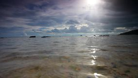 Cloud coming on the beach in Koh Samui. Tropical cloudy day on the beach in Koh Samui Thailand stock footage