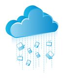 Cloud communication. With blue icons. vector illustration Stock Images
