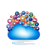 Cloud communication design Royalty Free Stock Photography