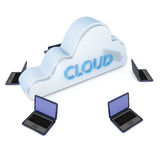 Cloud computer. Render of a cloud computer system Royalty Free Stock Photography