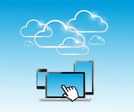 Cloud computer electronics illustration design Royalty Free Stock Photo