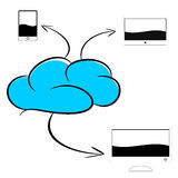 Cloud computer illustration Stock Photography