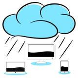 Cloud computer illustration Stock Photo