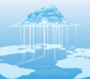 Cloud computer internet concept Royalty Free Stock Photos