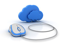 CLOUD and Computer Mouse Stock Photo