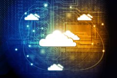 Cloud Computer Network. And internet communication concept Stock Photos