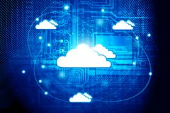Cloud Computer Network. And internet communication concept Royalty Free Stock Photos
