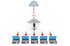 Cloud computer network Royalty Free Stock Image