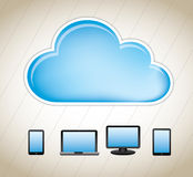 Cloud computers Royalty Free Stock Images