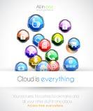 Cloud computin concept background Stock Images