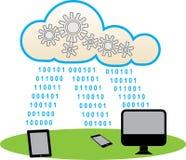 Cloud Computing. Illustration of Cloud computing technology Stock Photo