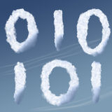 Cloud Computing. Concept of clouds in the sky representing could computing royalty free illustration