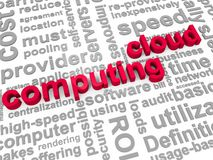 Cloud Computing. The Words Cloud Computing surrounded by relevant phrases Royalty Free Stock Image