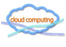 Cloud computing. The symbol of cloud computing. This is theme of Internet Stock Photos