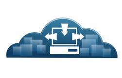 Cloud computing. Illustration representing a cloud cumputing representation Royalty Free Stock Image