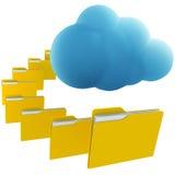Cloud computing. 3d rendering illustrating cloud computing Royalty Free Stock Image