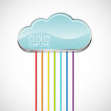 Cloud computing. Abstract vector illustration Stock Images