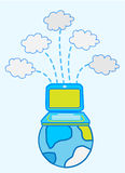Cloud computing. Global Data cloud computing    illustration design Royalty Free Stock Image