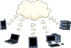 Cloud computing. Is on a white background, vector Royalty Free Stock Photography