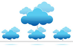 Cloud computing. Network connection illustration design on white Royalty Free Stock Image
