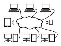 Cloud Computing. An image depicting cloud computing Stock Photos