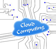 Cloud Computing. Abstract Cloud Computing Network on white Royalty Free Stock Image