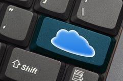 Cloud Computing. Concept on keyboard Stock Photo