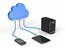 Cloud computing. Concept 3d render Royalty Free Stock Image