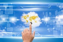 Cloud Computing. Futuristic Cloud Computing Concept Background Stock Photography