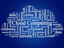 Cloud computing. Cloud computing concept. Photo collage Royalty Free Stock Images
