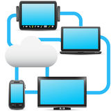 Cloud computing Images libres de droits