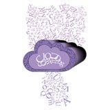 Cloud Computing Stock de ilustración