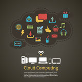Cloud computing abstract background Royalty Free Stock Images