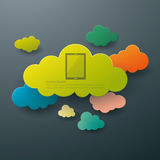 Cloud computing abstract background. Concept Stock Image