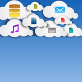Cloud computing abstract concept with icons Stock Photo