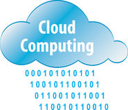 Cloud computing abstract iilustration Royalty Free Stock Photo