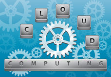 Cloud computing abstract illustration Royalty Free Stock Image