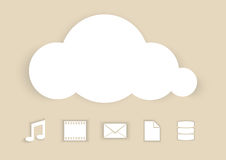Cloud Computing abstract illustration Stock Photos