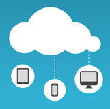 Cloud Computing abstract illustration Stock Image