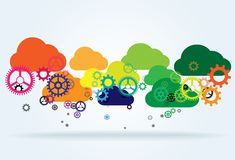 Cloud computing abstract illustration Royalty Free Stock Images