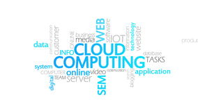 Cloud computing, animated typography. Cloud Computing, Typography,4k  high quality stock video