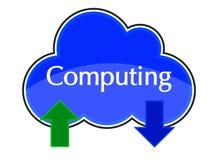 Cloud Computing-Antriebskraft-Download-Ikonen-Blau stockbild