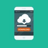 Cloud computing app - download progress bar Stock Photos