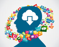 Cloud computing applications Stock Photos