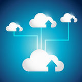 Cloud computing arrow network illustration design Royalty Free Stock Photos