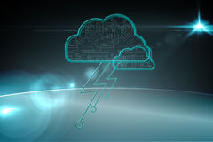 Cloud computing background Royalty Free Stock Image