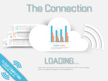 Cloud computing background infographic. For web Stock Photos