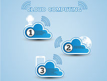 Cloud computing background infographic. For web Stock Images
