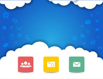 Cloud Computing Background Royalty Free Stock Photos